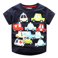 New Baby Boys Short Sleeves Summer T shirts Kids Cute Cartoon shirt with Printed Some Cars Hot Selling 2019