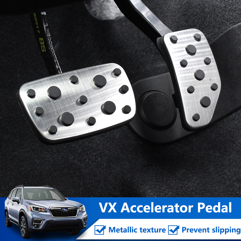 Image 3 - QHCP Accelerator Brake Footrest Gas Pedals Pad Stainless Steel  Rubber Car Accessories For Subaru Forester 2019 XV 2018 2019  3PcsPedals