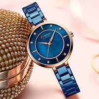 CURREN Women Watches Luxury Brand Fashion Casual Ladies Watch Women Quartz Diamond Lady Bracelet Wrist Watches For Women