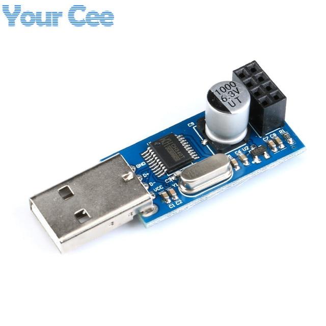 1 предмет CH340 USB к ESP8266 последовательный Порты и разъёмы Беспроводной модуль Wi-Fi доска разработки 8266 адаптер модуль ESP-01S IOT