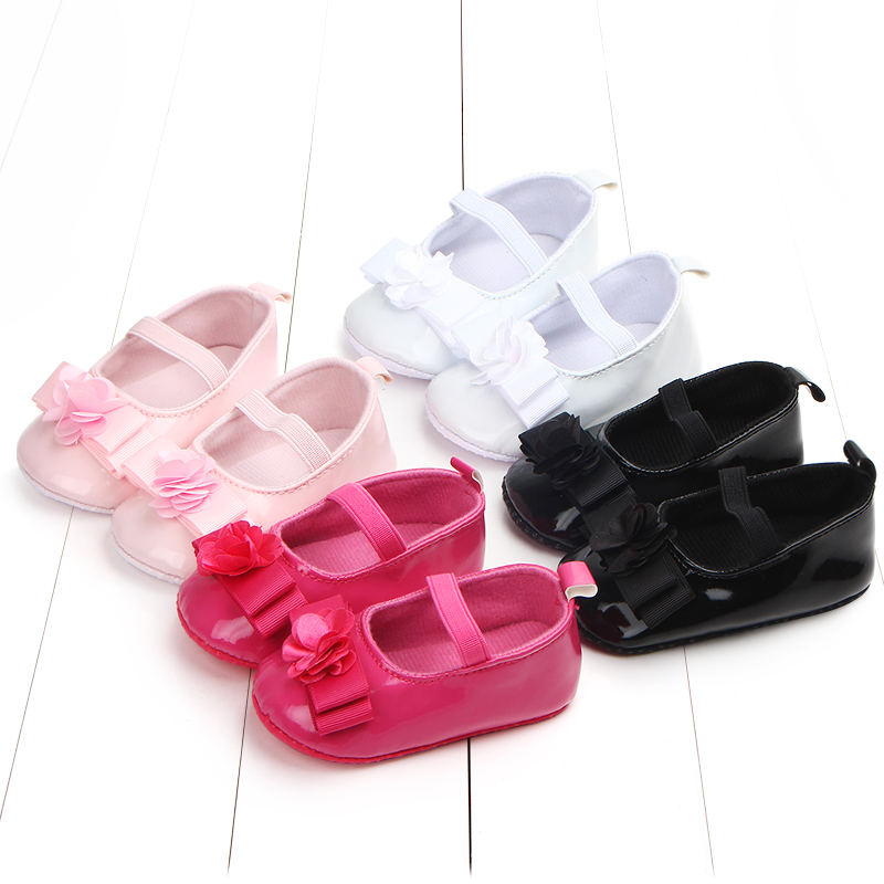 Dreamy Butterfly-knot Elastic Band Soft Sole Infant Newborn Baby Girl Shoes Princess Shoes First Walker