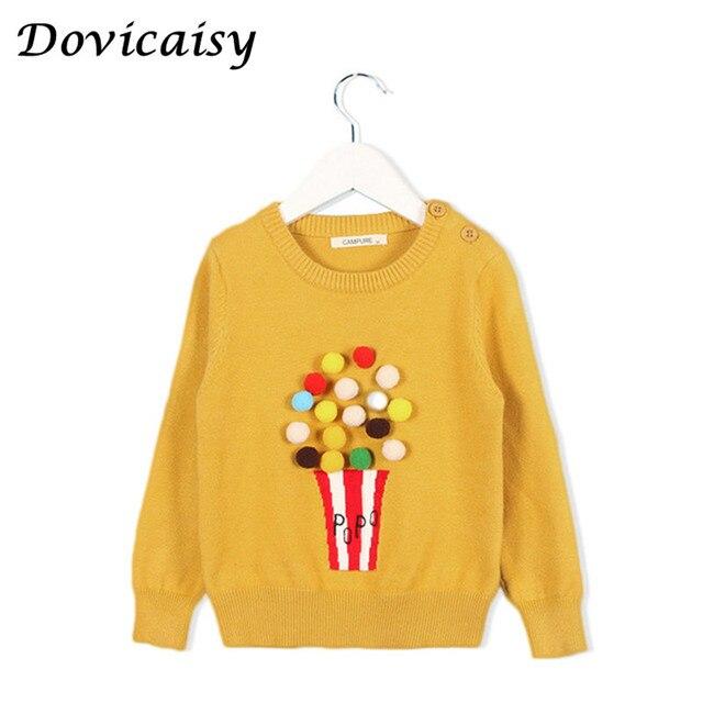 3c73e07699 Jesień Dziewczynek Sweter Dzieci Dzianina Popcorn Swetry Dla Dziewcząt  Dziecko Dzianiny Sweter Dziewczyny Swetry Ubrania