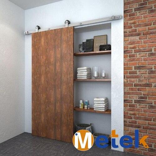 4.9FT/6FT/6.6FT stainless steel solid wood interior barn sliding door hardware цена 2017
