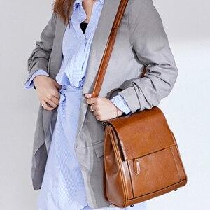 Image 3 - Женский дорожный рюкзак POMELOS, модный дизайнерский рюкзак из спилковой кожи, женский рюкзак, дамская сумка