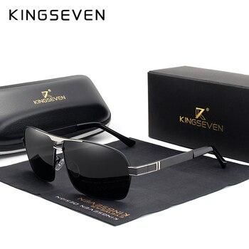 Мужские зеркальные солнцезащитные очки KINGSEVEN