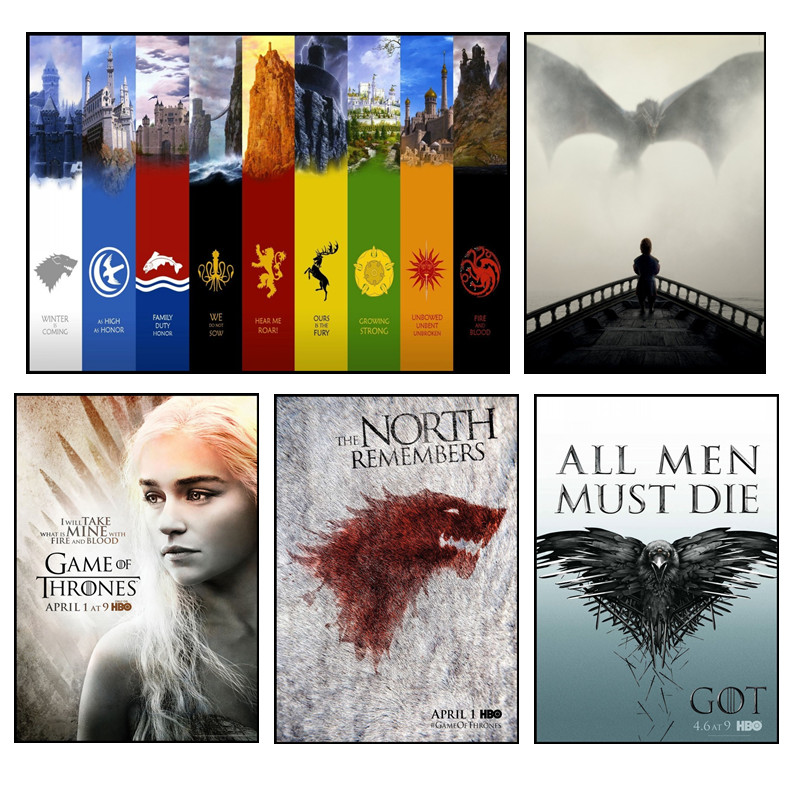 Game of thrones movie and TV posters home decor white photo paper hd print buy 3 get 4 image