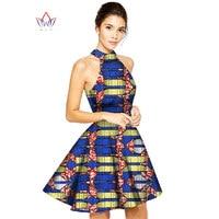 New Style 2016 Fashion Dress African Dresses for Women Halter Neck A-Line Custom Dashiki Dress Plus Size Women Clothing WY036