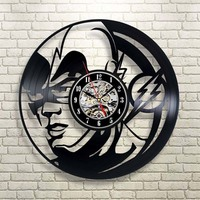 Hollow Round the Flash Handmade Vinyl Record Clock Creative and Antique Decorative Hanging Clock Unique Art 3D LED Wall Watch
