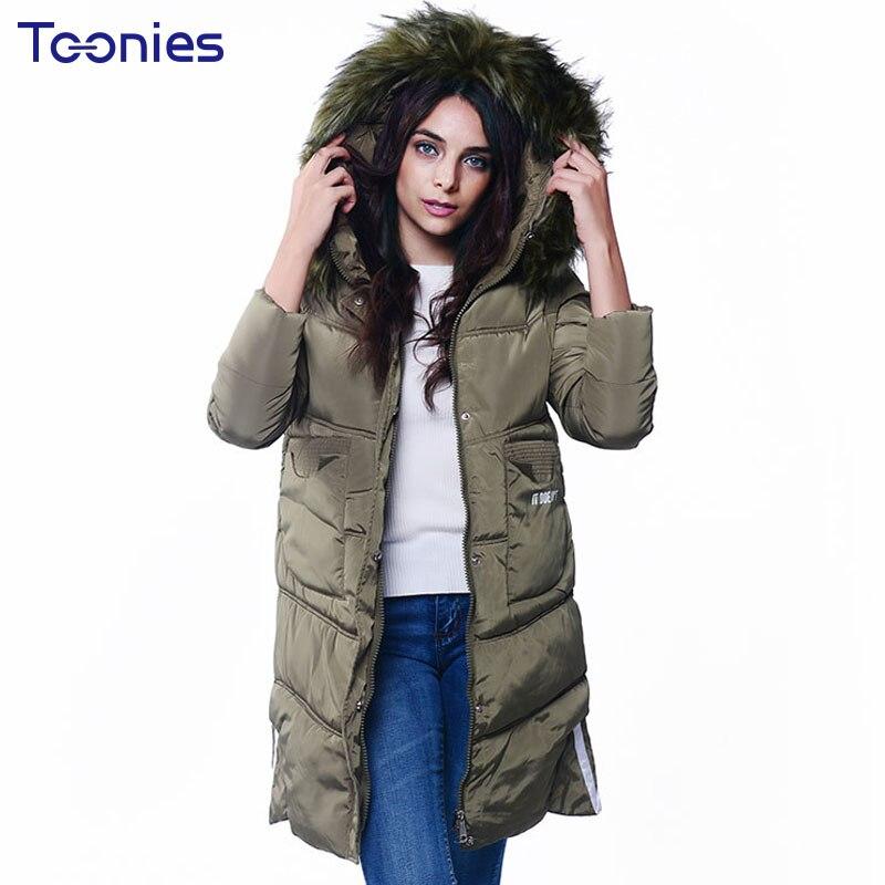 Faux Fur Hooded Coats Winter Women Parkas 2017 High Quality Down Jacket Wadded Jackets Coat for Women Outwear Winter Long Parka