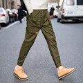 Primavera e Outono calça casual calças dos homens calças calças espartilho Japonês versão coreana dos pequenos pés de Harlan calças tamanho grande