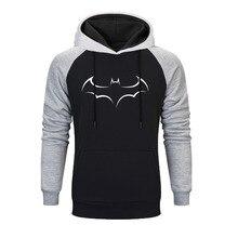 Super Hero Batman Sweatshirt Men Printed Raglan Hoodie Gray Black Sweatshirts 2019 Autumn And Winter Simple Comfortable Hoodies
