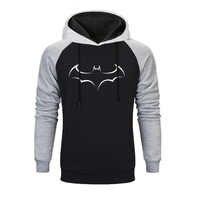 Super héros Batman sweat hommes imprimé Raglan à capuche gris noir sweats 2019 automne et hiver Simple confortable sweats à capuche