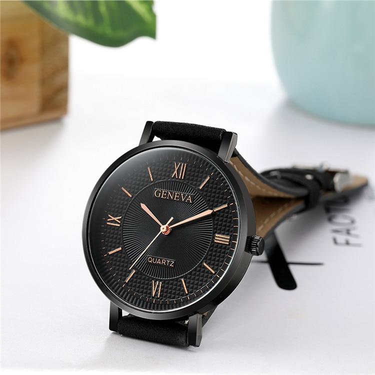 2019 Топ бренд женские часы модные кварцевые часы для женщин кожаный ремешок Коричневый Черный наручные часы в стиле ретро женские винтажные ...