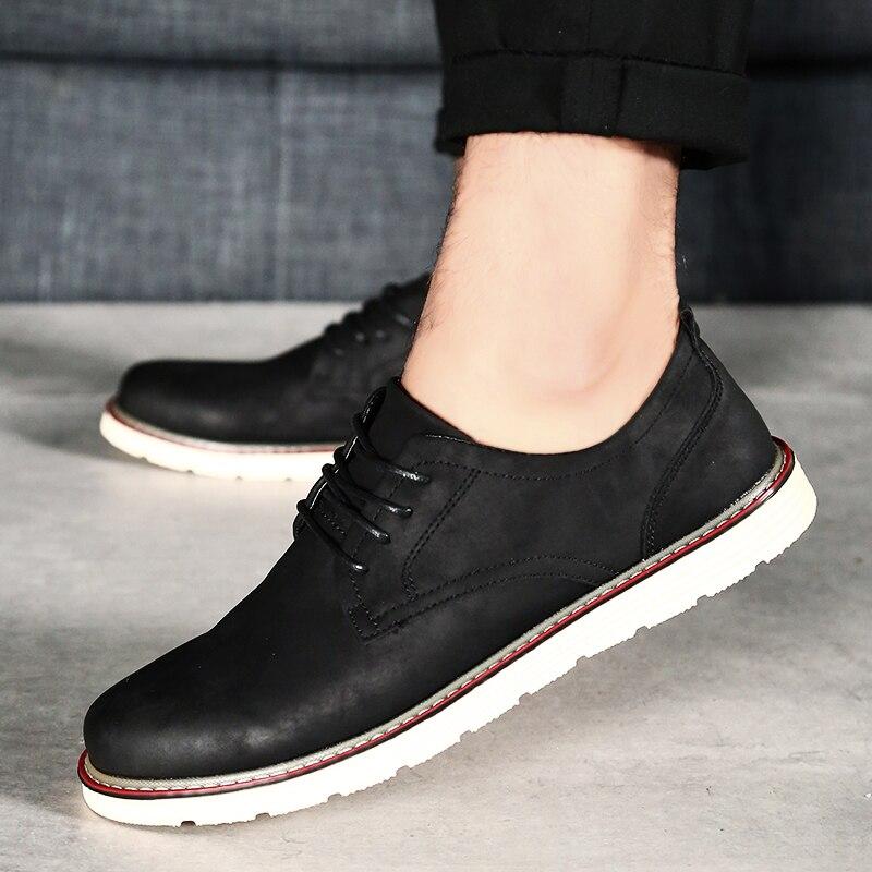 Chaussures Confortable Noir Mâle D'affaires Classique Plat Printemps Hommes Automne De À Lacets Homme Casual Black Marche 0xwBdCEwq