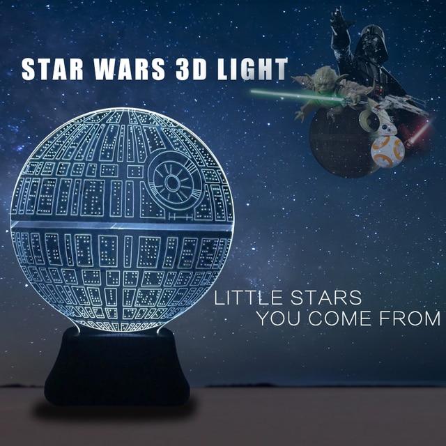 Star Wars 3d Lampe Nithg Lumiere Bb8 Etoile De La Mort De Lampe