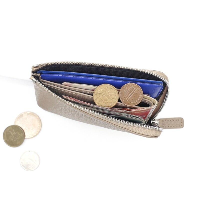kvinnor plånböcker lyx märke äkta läder dam dragkedja mynt - Plånböcker - Foto 4