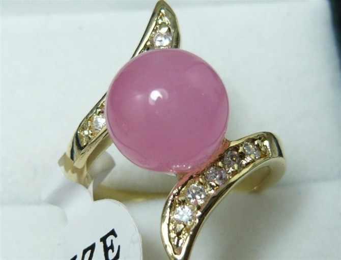 ขายส่ง elegant คริสต์มาสของขวัญคริสตัล 10 มม. รอบหยกธรรมชาติสีม่วงแหวนลูกปัด (7,8, 9 #) r008