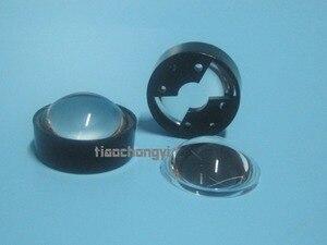 Image 1 - 10 pces 60 graus lente refletor colimador com suporte conjunto para 1w 3w 5 led