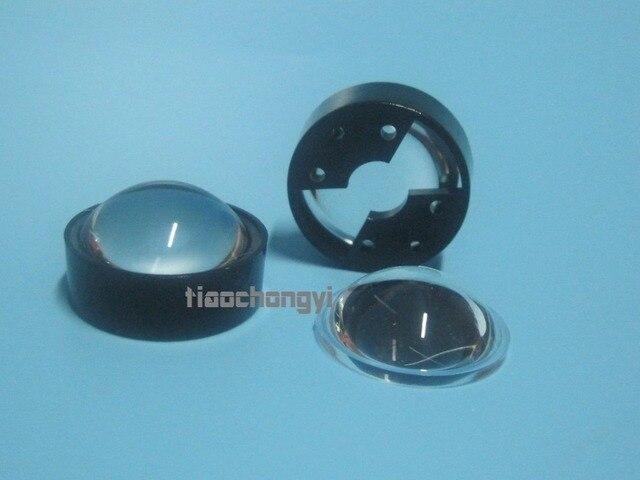 10 pces 60 graus lente refletor colimador com suporte conjunto para 1w 3w 5 led