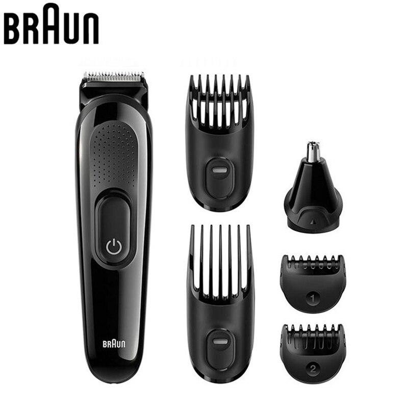 Braun MGK3020 Hommes Barbe Tondeuse pour Cheveux Oreille de Nez Tête coupe avec 4 Peignes 13 Longueur Paramètres Toilettage Kit Électrique rasoir