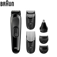 Braun MGK3020 Men's Beard Trimmer for Hair Ear Nose Head Trimming with 4 Combs 13 Length Settings Grooming Kit Electric Shaver