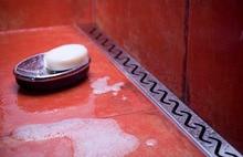 60 ~ 100 cm «Vague» style stailess acier linéaire douche drain, wetroom long étage salle de douche vertical porte de vidange
