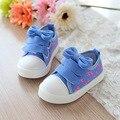 Children's Canvas Shoes Новый Весна Осень Малышей Детей Модные Мальчики и Девочки Тапки Марка Размер 21-30 Ботинки Enfant 448