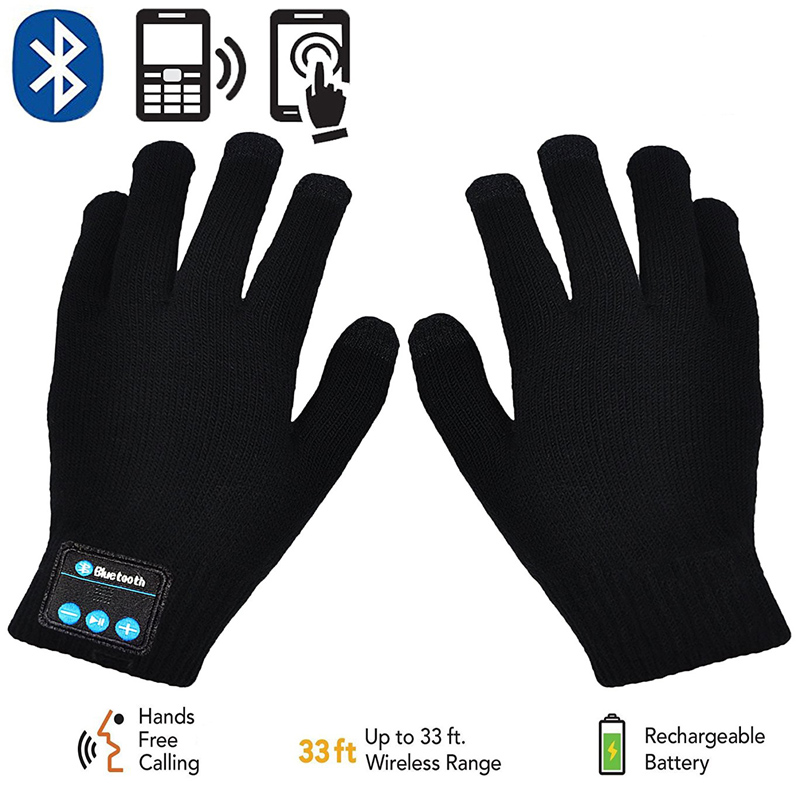 Rechargeable Wireless Bluetooth Gloves Women Men Winter Knit Warm Mittens Call Talking Touch Screen Gloves Mobile Phone Pad все цены