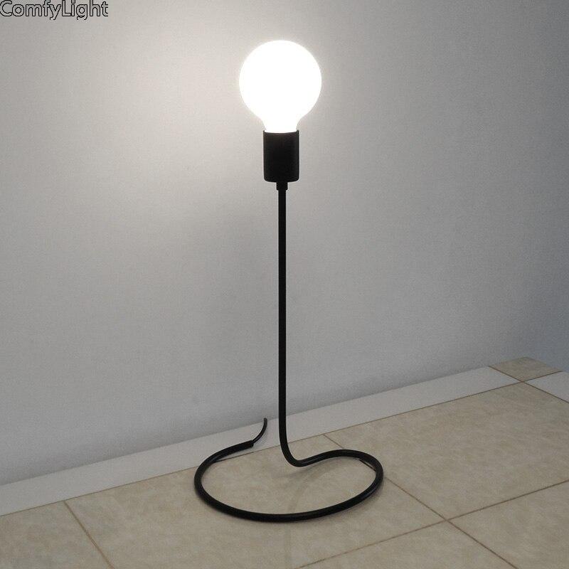 Lampe de Table rétro Loft bureau Edison ampoule 110 V/220 V Dimmable veilleuse lampe de bureau chambre/salon/café lampe LED E27 chevet
