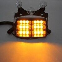 18 LED Yellow Warning Light Flashing Strobe Emergency Lamp Amber For Car Truck SUV