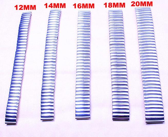 Offen Großhandel 50 Teile/lose Hohe Qualität 12 Mm, 14 Mm, 16 Mm, 18 Mm, 20 Mm Edelstahl Stahl Uhrenarmbänder Uhr Strap-0304041