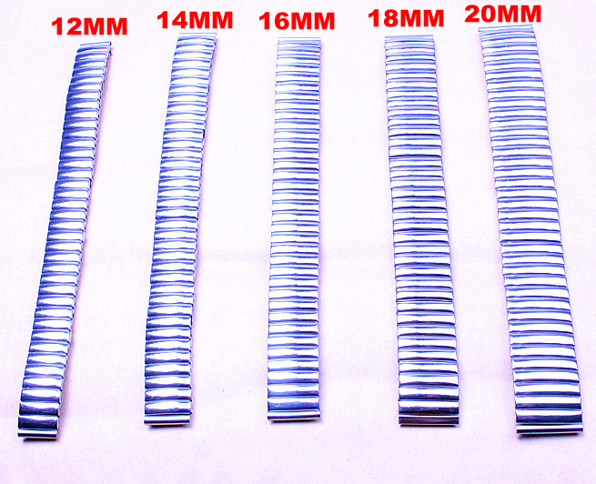 Wholesale 50pcs/lots high quality 12MM,14MM,16MM,18MM,20MM stainless steel Watch Bands watch strap-0304041
