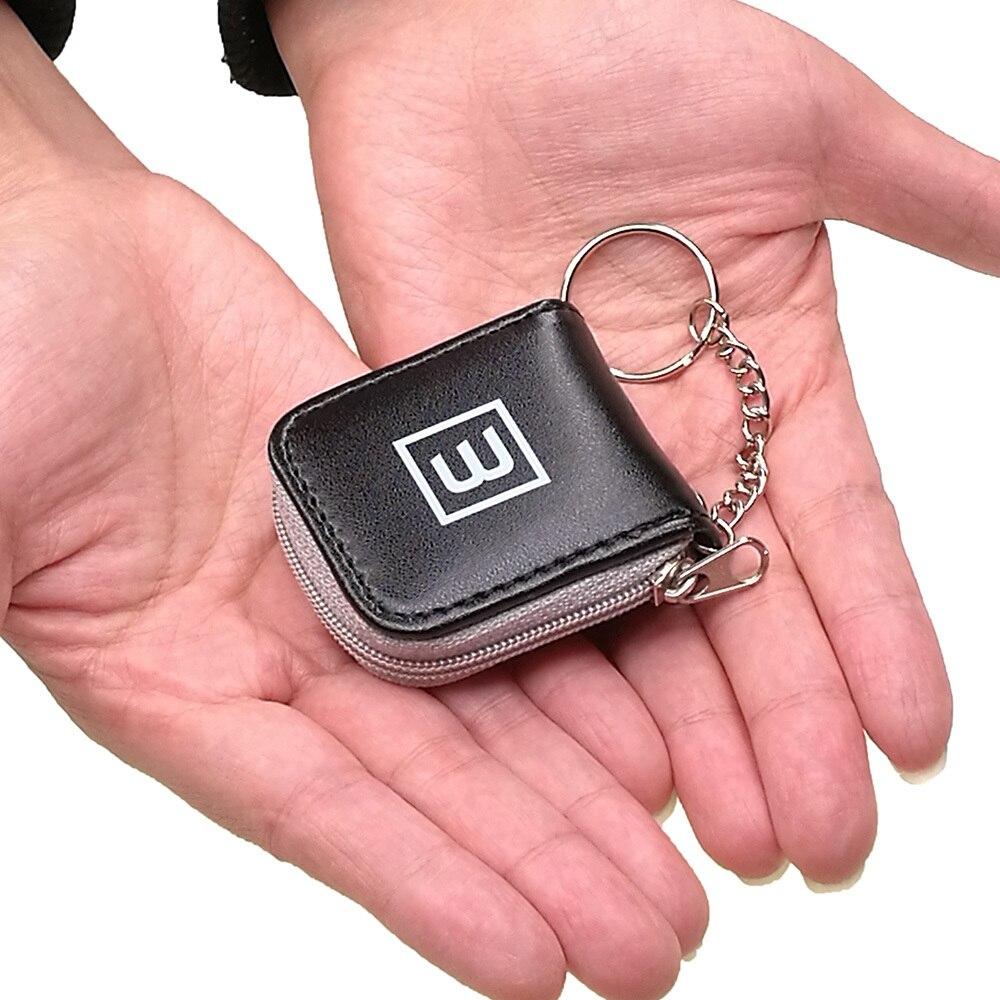 Portable Cute Mini Memory Flash Card Case Holder Small Wallet Storage Carrying Pouch Micro SD TF Nano SIM Male Men Women Black(China)