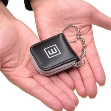 Portable Cute Mini Memory Flash Card Case Holder Small Wallet Storage Carrying Pouch Micro SD TF Nano SIM Male Men Women Black