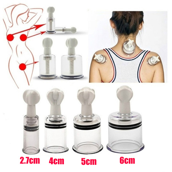 1 Piece Twist Suction Cupping Cup Nipple Enhancer Massage Cans Vacuum Fetish Plastic Enlarger Suction Enlarger Body Massage Cups