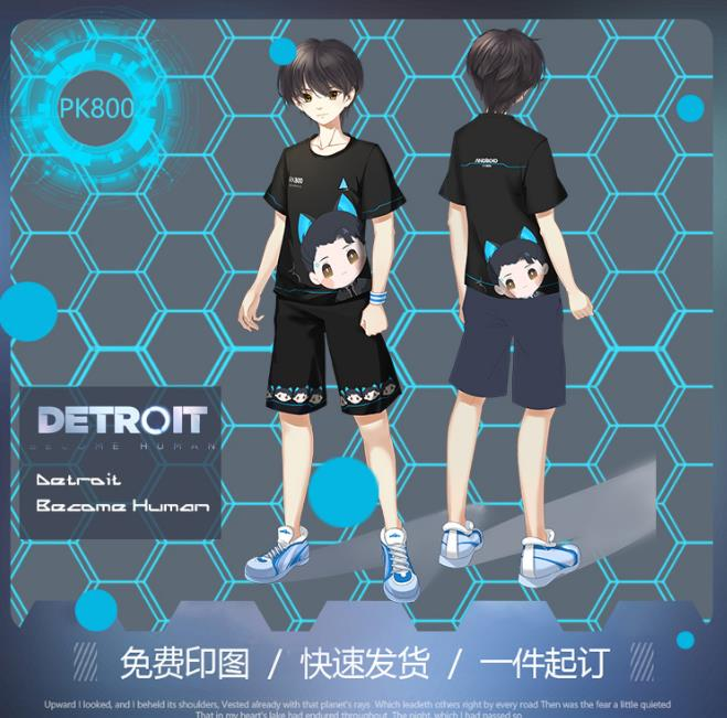 Game Detroit Become Human T-shirt Men Fashion Cool Tag-free T-shirt Men Cotton Popular O-neck Soft Tshirt Men Short Sleeve Shirt