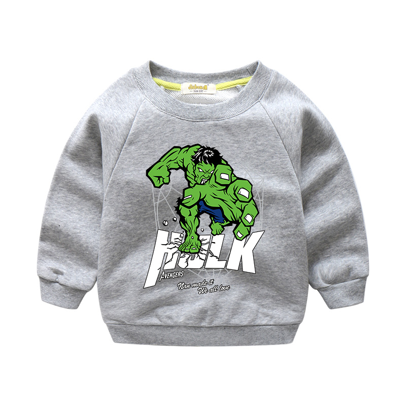 2018 New Arrivals Boy Girls Spring Cartoon Hero Pattern Sweater For Kids Long Sleeves 100%Cotton Tops Children Clothes WY002