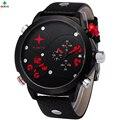 Hombres Deportes Relojes DZ Erkek Kol Saati Impermeable Lujo de la Marca de Cuero Genuino de Acero Inoxidable de Cuarzo Reloj de Pulsera Del Deporte Hombres