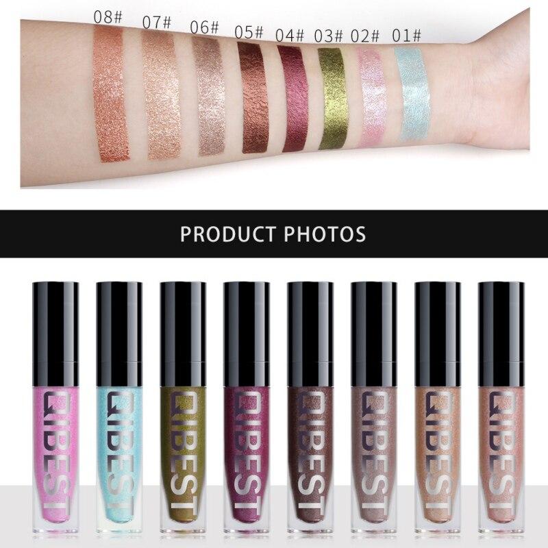 2019 líquido brillo sombra de ojos lápiz brillo sombra de ojos impermeable de larga duración sombras de ojos profesional