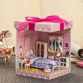 DIY Casa de Bonecas Em Miniatura De Madeira Feitos À Mão DIY Kit-Quarto Bonito da Menina & Móveis/instrução inglês casa de bonecas