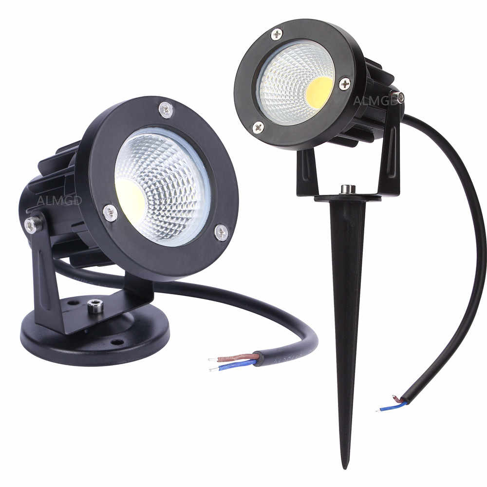 Новый стиль COB садовый Газон лампа свет 220V 110V 12 В в светодио дный открытый светодиодный Спайк свет 3 Вт 5 Вт 7 Вт 9 Вт путь пейзаж водостойкие точечные лампы