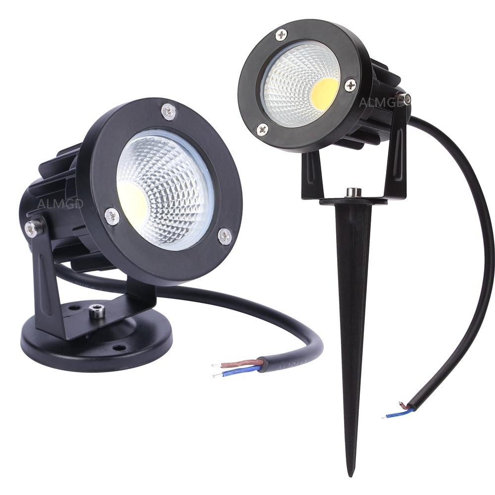 New スタイルの Cob 庭の芝生ランプライト 220V 110V 12V 屋外 LED スパイクライト 3 ワット 5 ワット 7 ワット 9 ワットパス景観防水スポット電球
