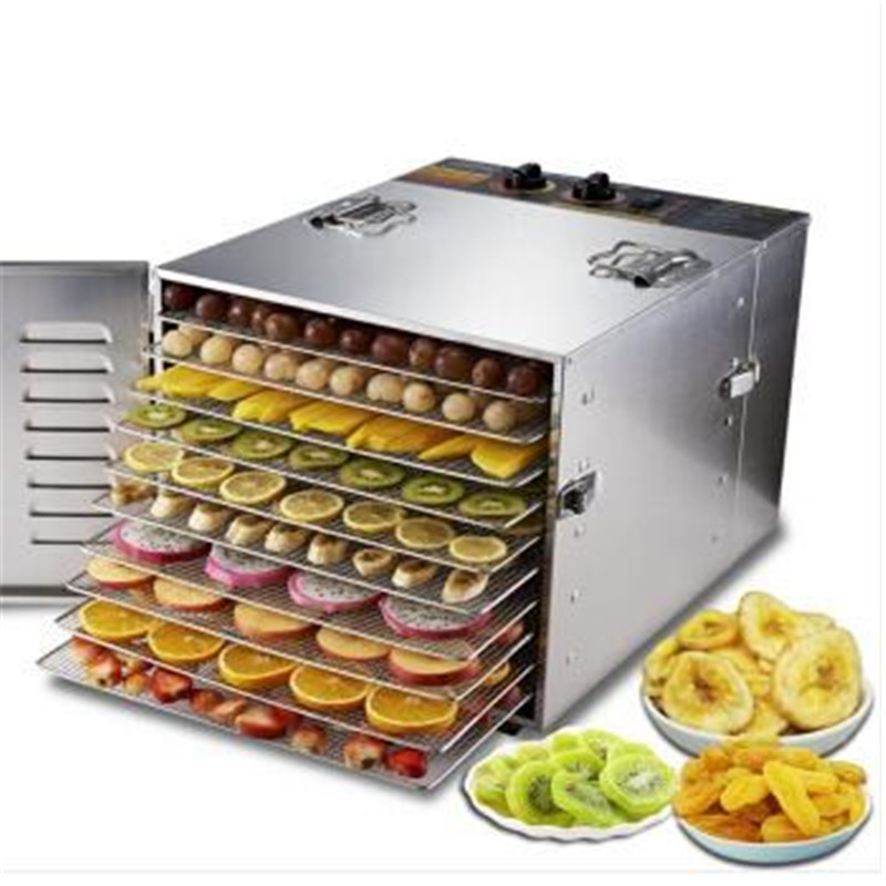 10 Tray Fruit Dehydrator Machine Fruit Vegetable Meat Herbal Tea Fish Dryer Food Dryer 2015 arrival real 21 30 years beleza fresh fruit tea super peach detox beauty freckle natural without added herbal