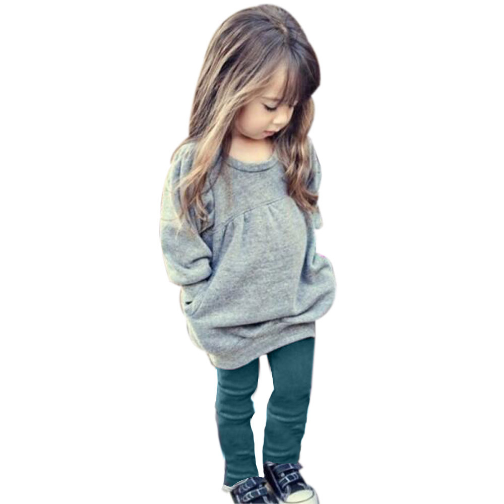 3164036870c7 4 colors Spring Autumn Kids Girls Long Spring Sleeve Baby Dress For ...