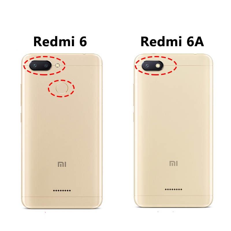 Image 5 - case for Xiaomi redmi 6 Redmi 6A Cover Leather Flip Case slim book mofi phone protect cover stand luxury glitter Redmi6 6a Case