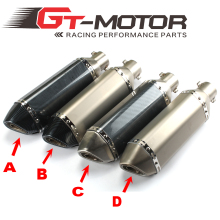 GT Motor – free shipping 36-51mm Motorcycle exhaust Modified Scooter Exhaust Muffle GY6 for HONDA R1 R3 R6 FZ6 Z1000 GSXR600