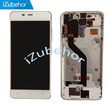 100% warranty white lcd screen display+touch screen digitizer + Frame assembly For IUNI N1 by free shipping