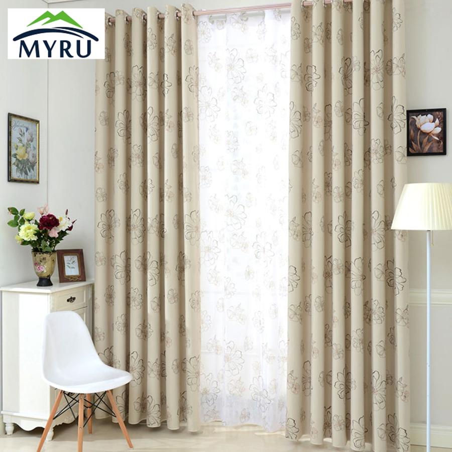 MYRU Cheap Blinds Modern Flower Window Blackout Curtains for Living ...