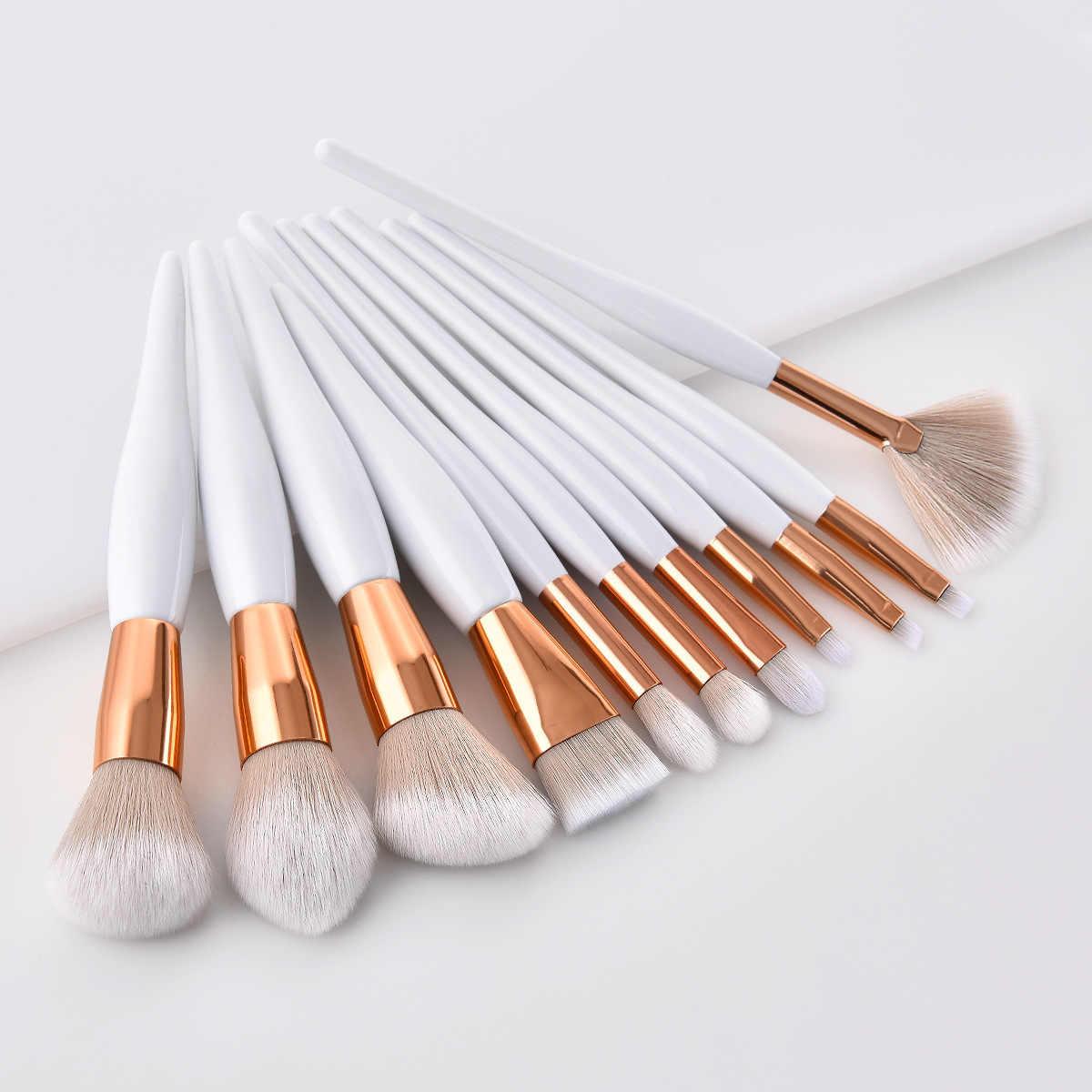 Brochas de maquillaje profesionales de alta calidad sombra de ojos cejas maquillaje en polvo base maquillaje pincel lápiz cosmético