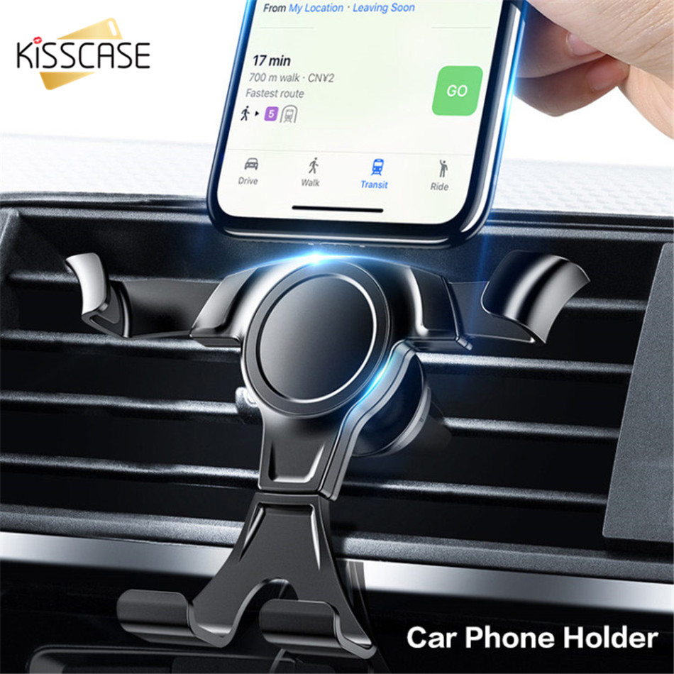 KISSCASE Gravity Car Phone Holder For IPhone 7 X For Samsung 20 Air Vent Clip Mount No Magnetic Mobile Phone Holder Cell Stand